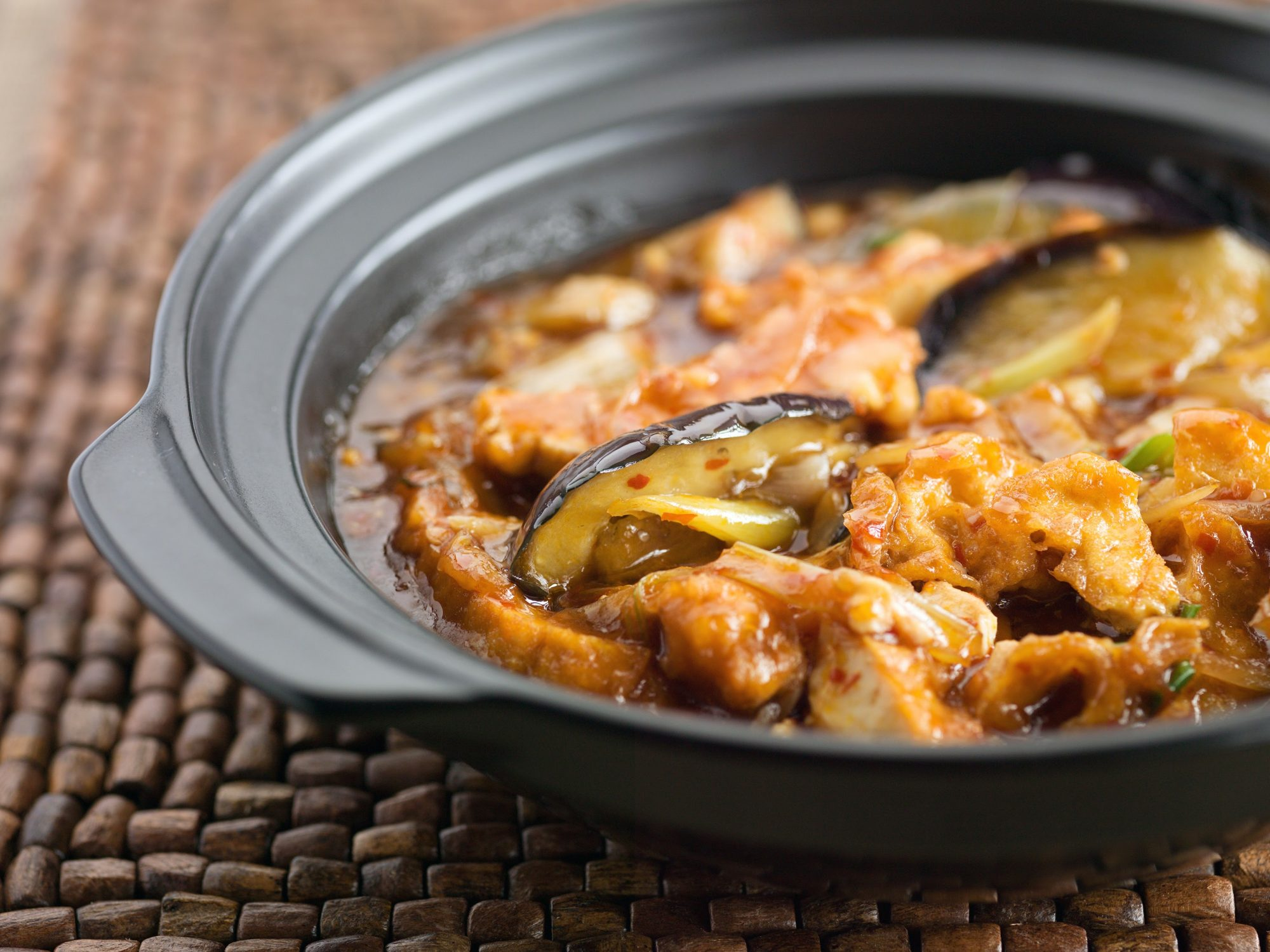 Aubergine hot pot