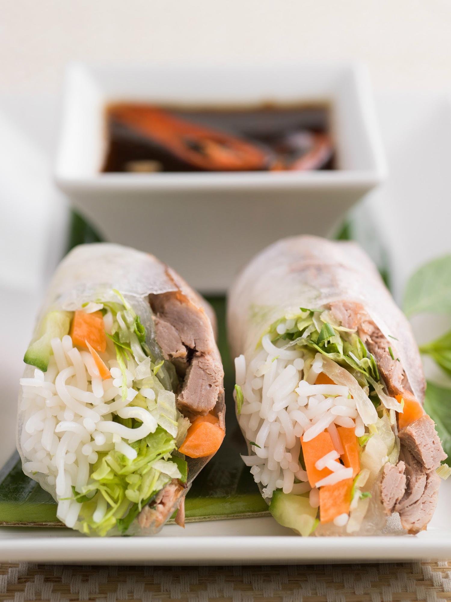 Duck summer rolls